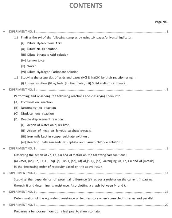 Lab Manual Science Class X Experiment. Viva-Voce-7228